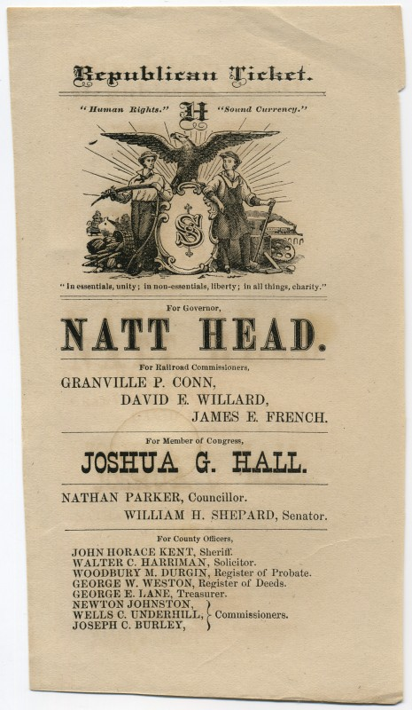 Republican Ticket New Hampshire 1878