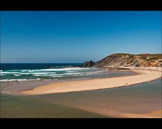 Billede af Praia da Amoreira. beach portugal strand waves algarve aljezur wellen brandung tamron2875 praiadaamoreira monteclérigo d80 portugal2011