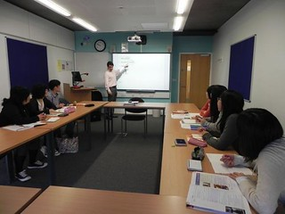Teaching Japanese students at Sussex Uni