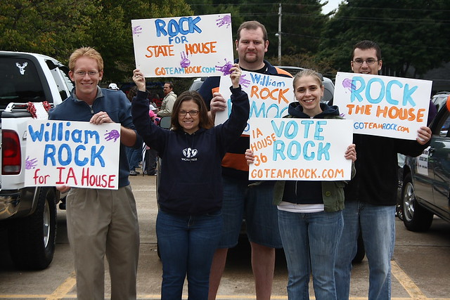 William Rock and supporters during his campaign for the Iowa House