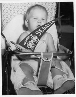 Baby with Missouri State Fair pennant (MSA)