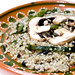 Risotto with rajas and mushrooms