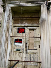 Abandoned Church of Christ Science: NO TRESPASSING