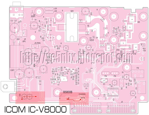 PCB ICOM IC-V8000 Top_med