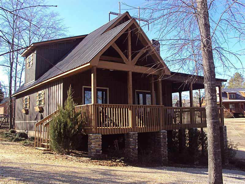 Cabin house plan with photos porches little river cabin for Small river house plans