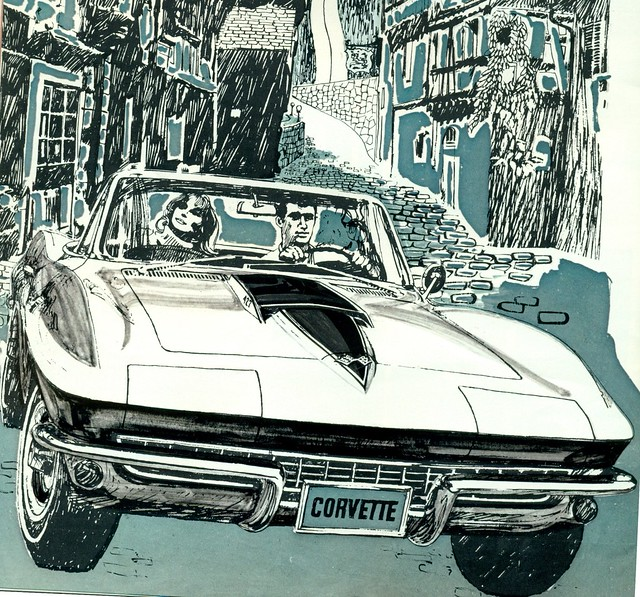 1967 Chevrolet 427 Corvette Convertible =Illustration