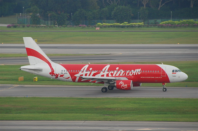 Indonesia AirAsia Airbus A320-216; PK-AXC@SIN;07.08.2011/617eo