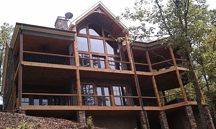 Mountain house floor plan photos asheville mountain house for Asheville mountain homes