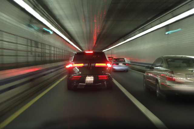 Traffic In HRBT Tunnel