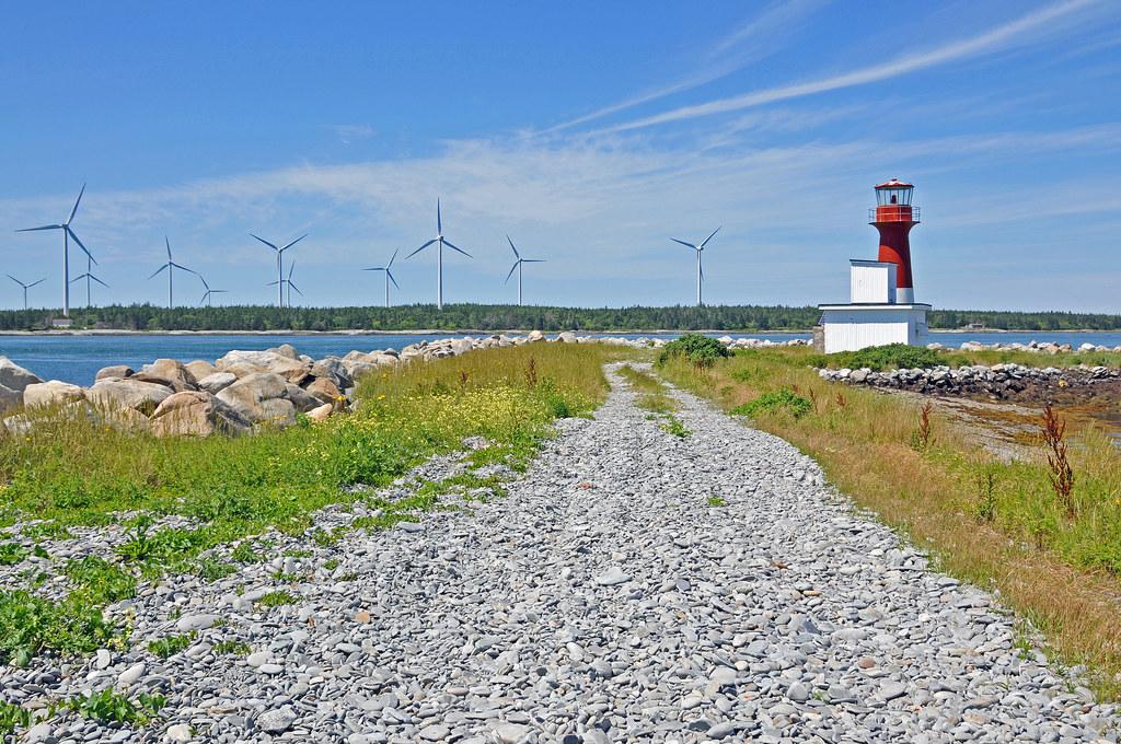 DGJ_3873 - Pubnico Harbour Lighthouse & Wind farm