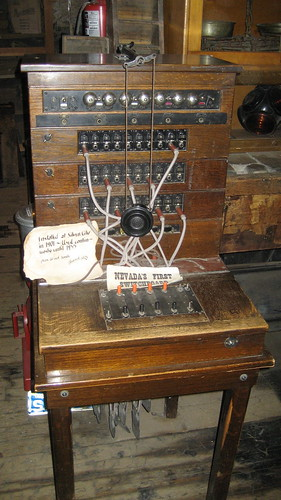 Nevada's First Telephone Switchboard