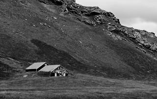 Farm building and Landscape (B&W)