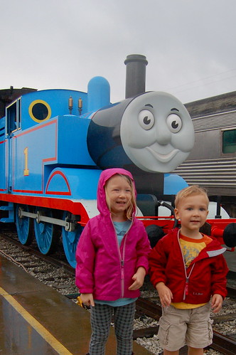 Kids with Thomas the Tank Engine