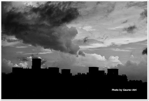 city blackandwhite noida india nature weather silhouette clouds landscape delhi monsoon rainclouds ncr whiteclouds blackclouds uttarpradesh nikondslr nikond3000 nikon1855mmvr mygearandme noidapanorama