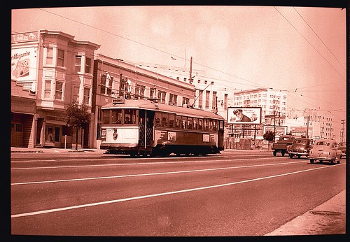 Market Street before the Safeway (1950?)