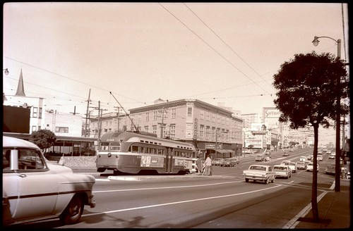 Church and Market before the Safeway parking lot (1964)