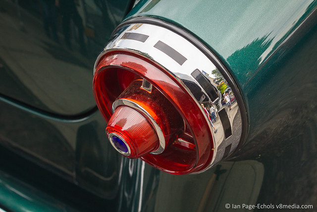 Green 1954 Ford Tail Light, Angle - 2011-09-18