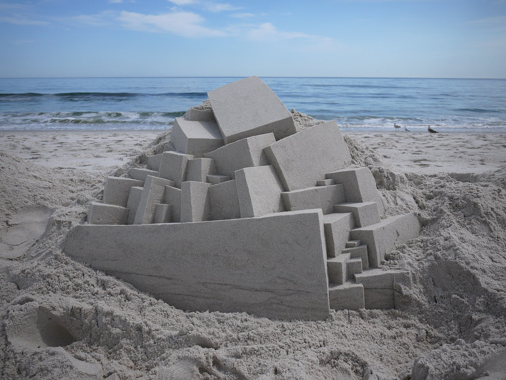 6043227927 9aa6e80bd5 b Geometric Sand Sculptures by Calvin Seibert