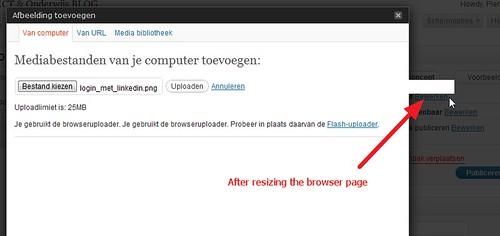WordPress 3.2.1 upload button problem