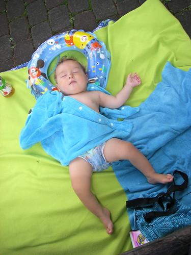 Poolside nap