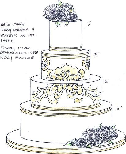 Sketch A Cake Design : Cake Occasions Sketchbook - Polka Dot Bride
