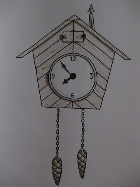How To Draw Cuckoo Clock