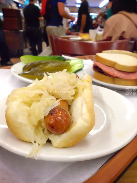 Grilled Hot Dog with Sauerkraut & Mustard | Katz's Delicatessen, Lowe...