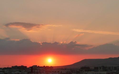 sunset summer sky cloud sun mountain fall tramonto nuvole nuvola estate fine cielo autunno montagna puglia gargano manfredonia flickraward