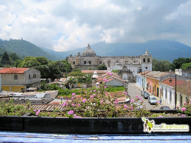 rooftop cafe view antigua guatemala