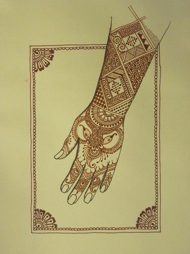 Mehndi Henna Pen : Henna drawings with pen makedes