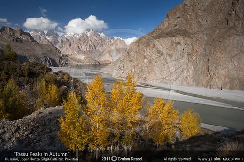 autumn pakistan mountains color fall love beauty yellow clouds river landscape rich relationship vistas emotions departure hunza cones passu hussaini