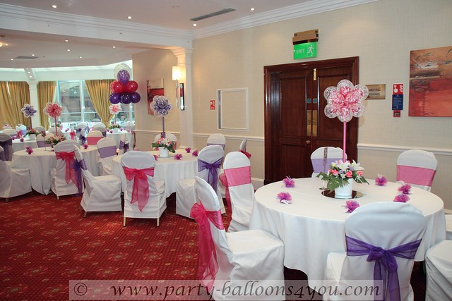 Wedding Decorations balloons silk flower hire chair cover hire wedding