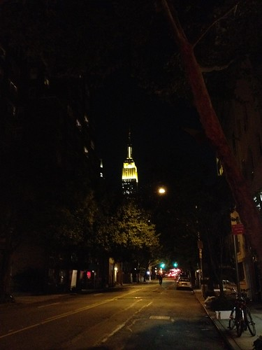 The ESB is urine yellow tonight