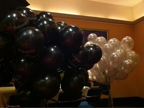Heliumballonnen Bedrukt Zilver Zwart