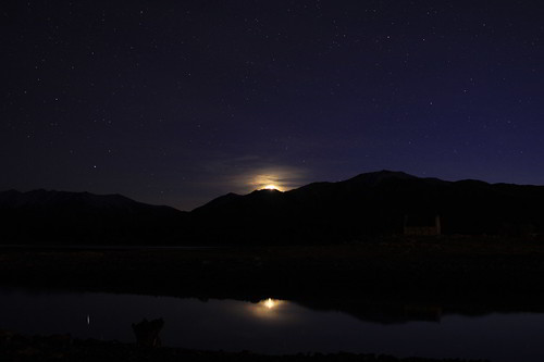 Moon Rise over Lake Tekapo