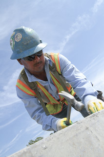 USACE Norfolk District contractor works at Fort Eustis Marshalling Upgrade Project