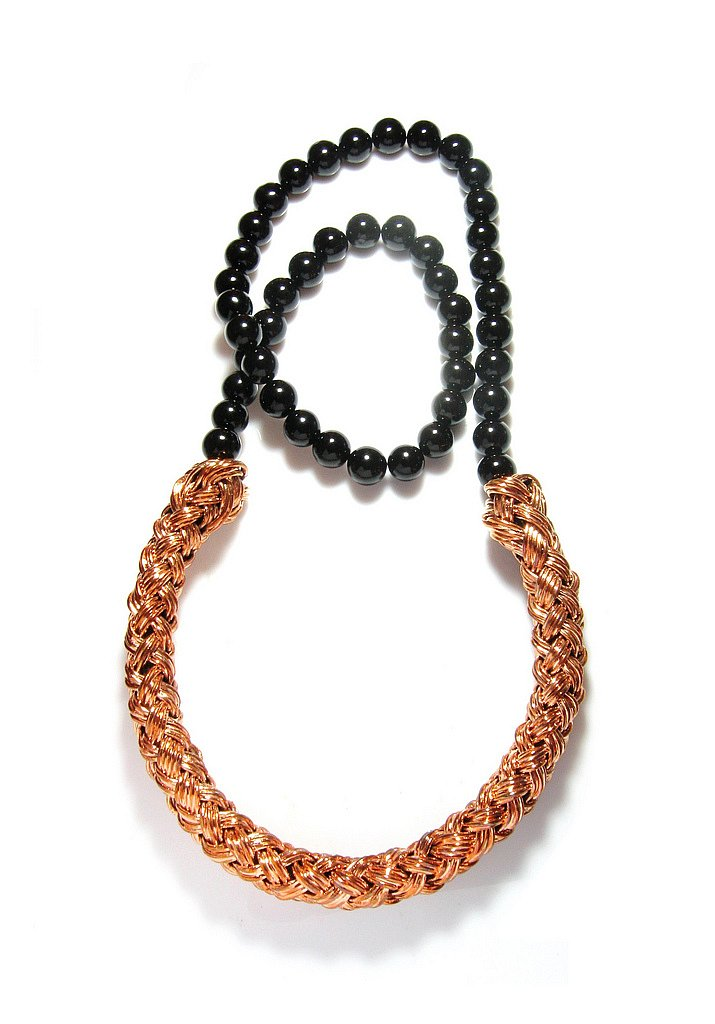onyx & copper knit