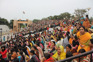 Wagah, border closing, female audience
