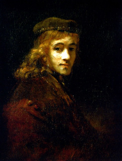rembrandt van rijn portrait of titus son of rembrandt at louvre museum paris france a. Black Bedroom Furniture Sets. Home Design Ideas