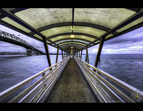 ocean bridge sea seascape storm ferry clouds landscape grey harbor pier cityscape harbour auckland wharf hdr hdri wow2 waitemata photomatix hdraddicted thebestofday mygearandme mygearandmepremium mygearandmebronze slightlypearshaped