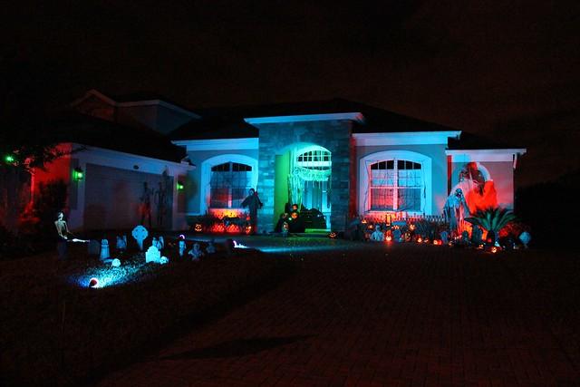 halloween house 2. houses impressive halloween light show will make on halloween home decorations, halloween props, halloween haunted house ideas, haunted house lighting, diy yard lighting, iron wall lighting, halloween homemade scary decorations, halloween board ideas, farm yard lighting, halloween led lights, decorative yard lighting,