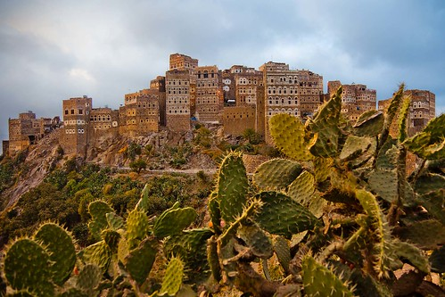 traditional yemeni house in al hajjarah, mountain haraz, yemen
