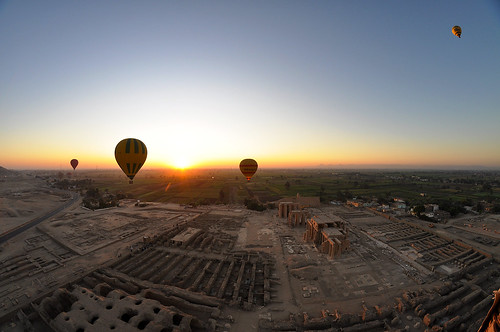 sunrise temple nikon egypt nile fisheye 8mm hotairballoons samyang d5000