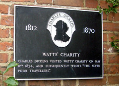 Photo of Charles Dickens black plaque