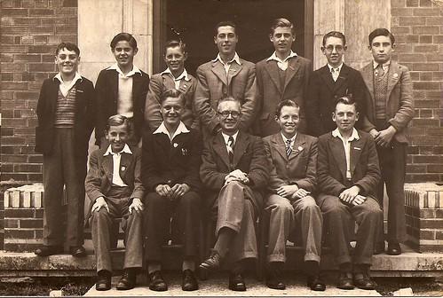 Unidentified group photo including Gordon Dewey by familytreeuk