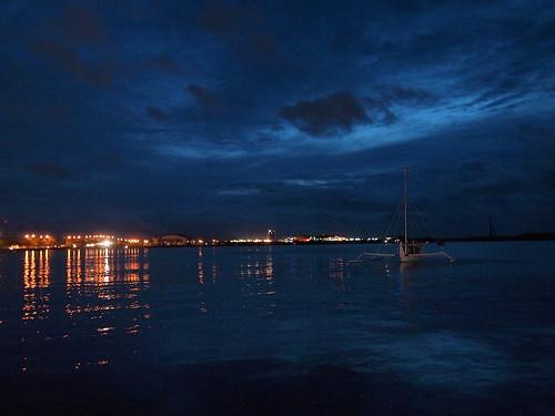 Night View of Makassar Strait from Losari Beach, Makassar