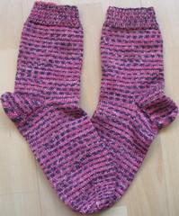 handgestrickte Socken Ende 2011