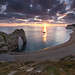 Sunset at Durdle Door - Jurassic Coast, Dorset, England, UK
