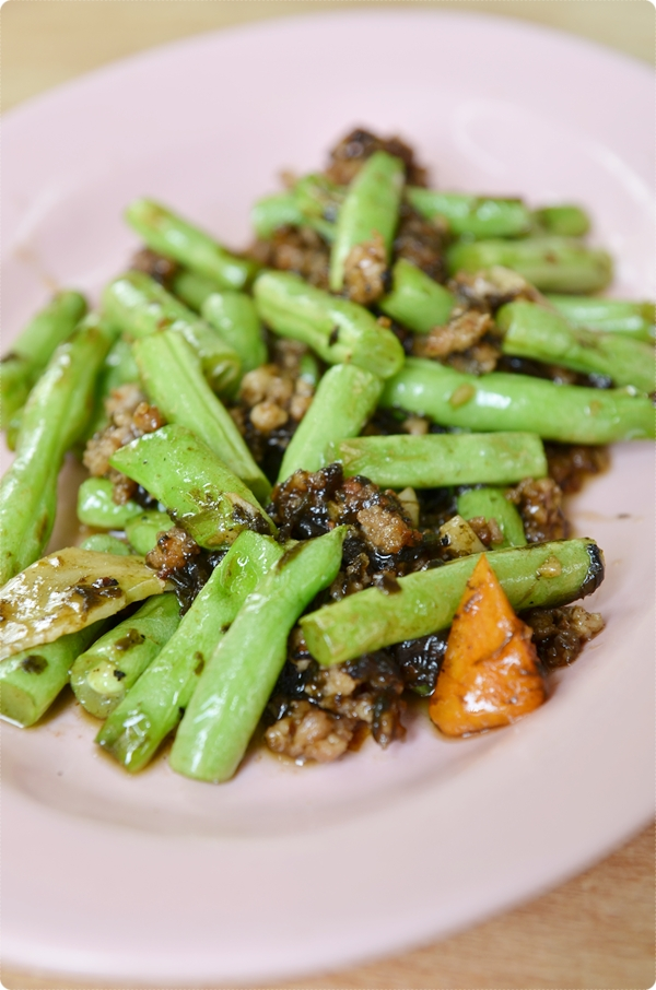 Stir Fried French Beans with Olive Paste