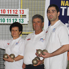Winning Family - Angela and Mario Borrelli with top shooter, son Tony.
